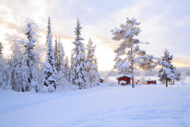 Wintersport in Lapland in Zweden